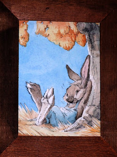 Cartoon painting brer rabbit bunny