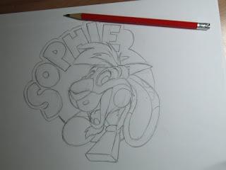 Cartoon goat sketch