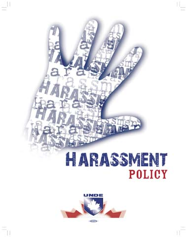 Harassment and sexual harassment policy