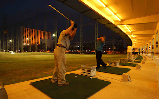 Golf Driving of Chaophya Park Bangkok Hotel