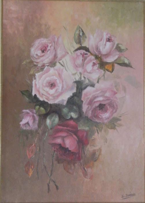 BODEGON.. Ramillete de rosas
