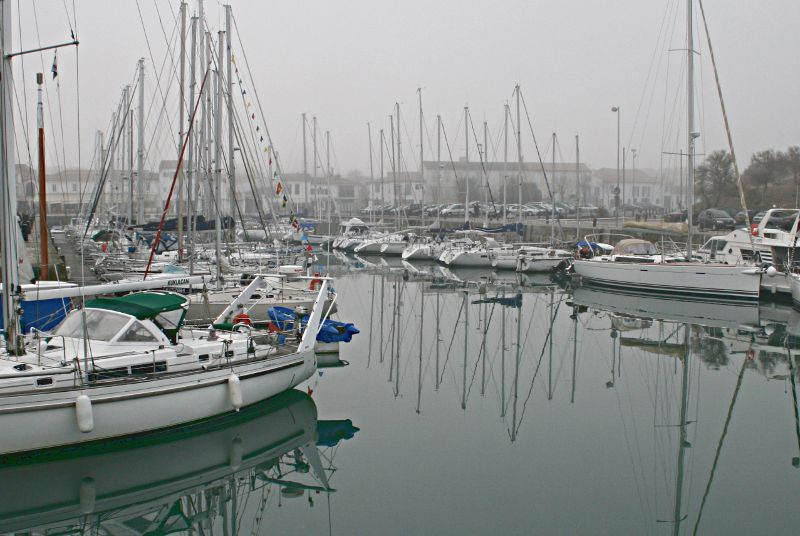 Yachts in the harbour of St Martin de Ré