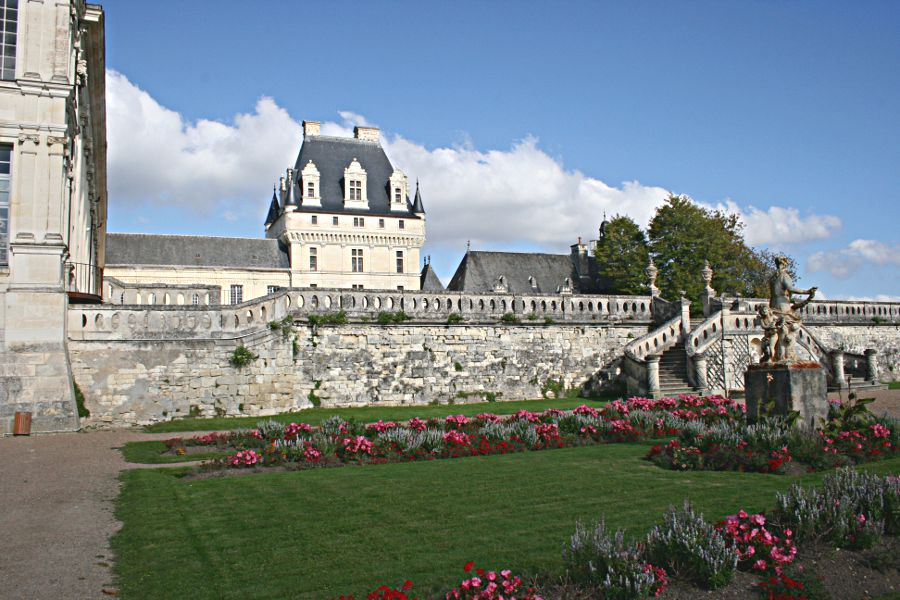 Château at Valençay seen from lower garden