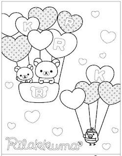 Escuela de angelitos nurie de rilakkuma nurie dibujos for Rilakkuma coloring pages