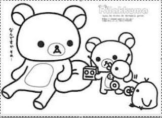 rilakkuma coloring pages rilakkuma bear coloring pages