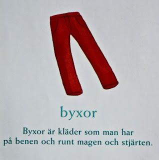 swedish svenska ord byxor