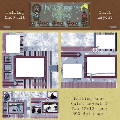 http://scrappingsisters.blogspot.com/2009/04/falling-snow-quick-layouts-freebie.html