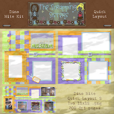 http://scrappingsisters.blogspot.com/2009/05/dino-mite-quick-layouts.html
