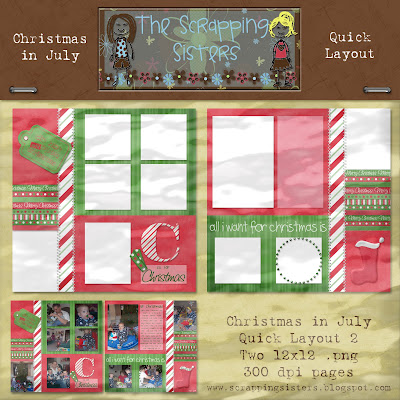 http://scrappingsisters.blogspot.com/2009/07/christmas-in-july-quick-layouts.html