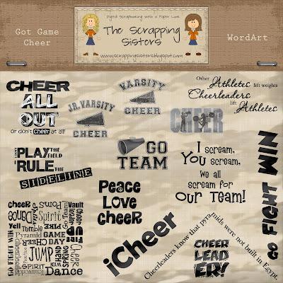 http://scrappingsisters.blogspot.com/2009/11/got-game-cheer-wordart.html