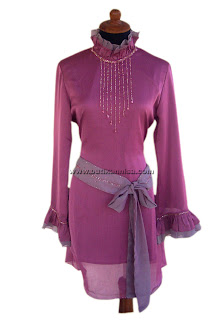 Atasan Sifon Garis Violet Sold Out