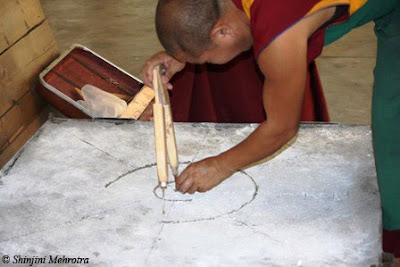 Monks making a mandala