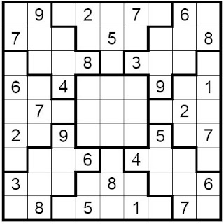 Hilaire image with irregular sudoku printable