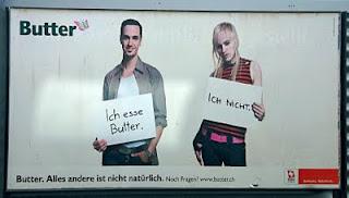 Diskriminierende Butterwerbung in der Schweiz
