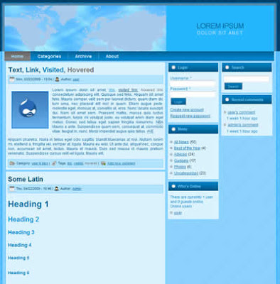 drupal corporate theme 3 column