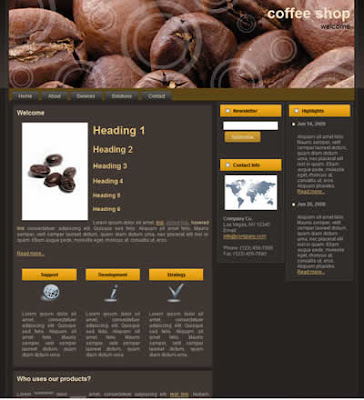free css template coffee