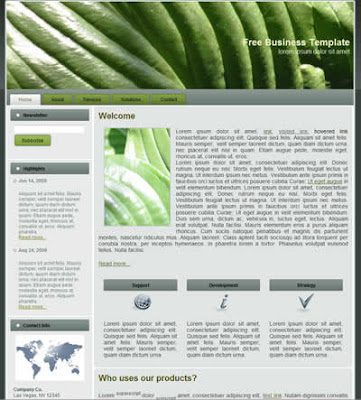 free business css template green