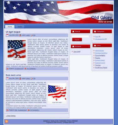 patriotic three column wordpress theme