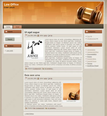 wordpress theme lawyers office