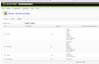 joomla 1.6 users access level manager