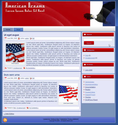 two column patriotic political wp theme