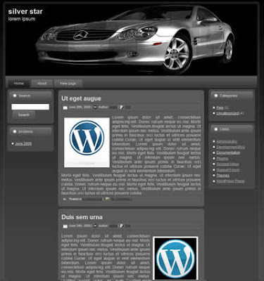 3 column wordpress theme dark background