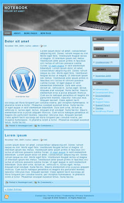 free 2 column wordpress theme