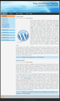 free 2 column blue wordpress theme