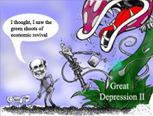 """Bernanke in an interview on 60 Minutes said that he does see """"green shoots of economic revival""""!"""