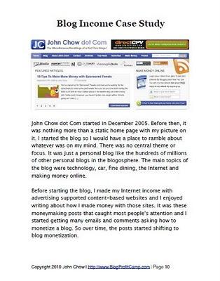 John Chow's Ultimate Blog Profit Model