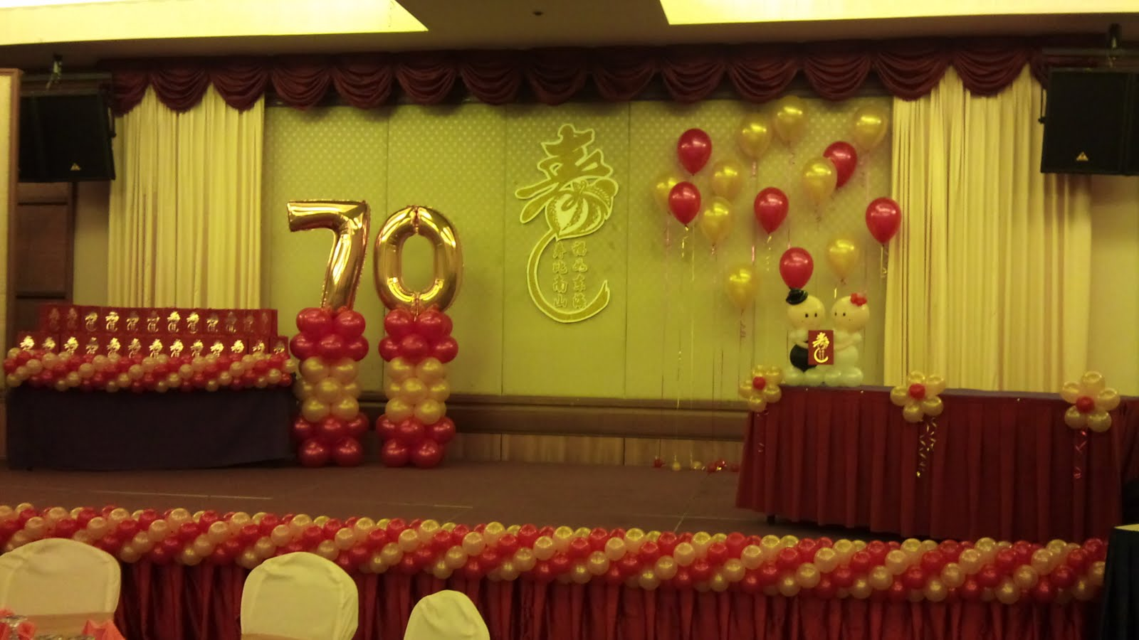 Balloon decorations for weddings birthday parties for Decoration 70th birthday