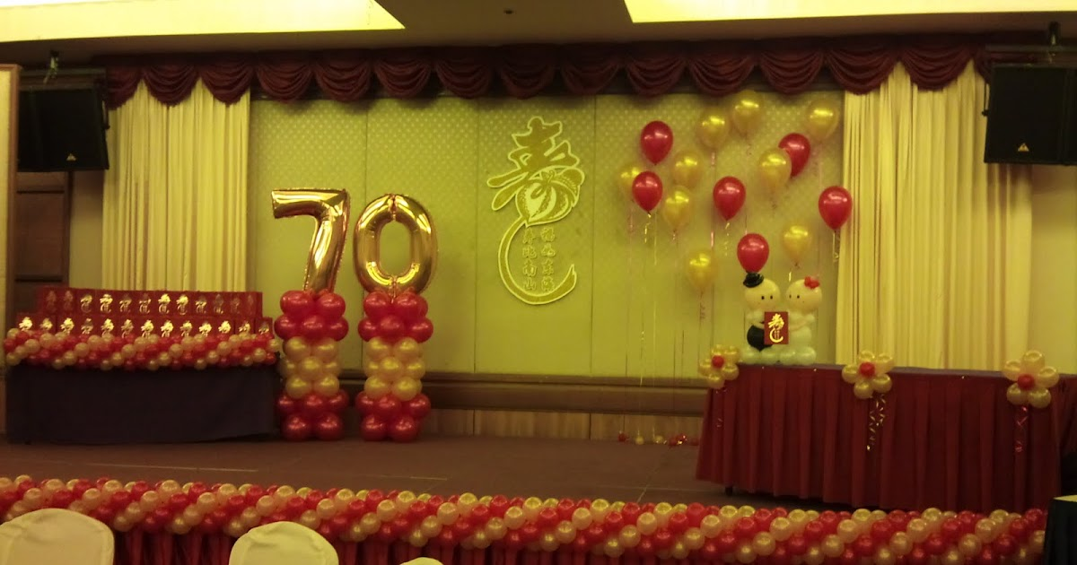 Balloon decorations for weddings birthday parties for 70 birthday decoration ideas
