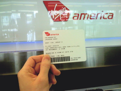 Virgin America Boarding Pass