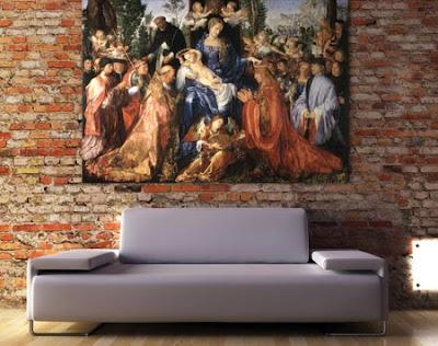 cuadros de reproducciones de arte para decorar paredes
