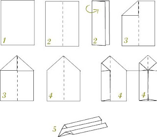 instrucciones para hacer un avion de papel