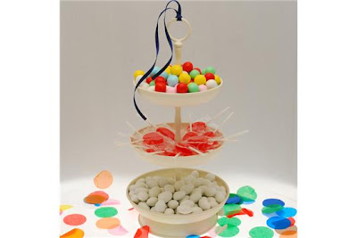 como decorar una mesa infantil con gominolas