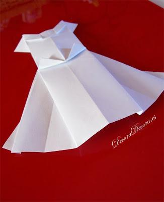 decorar una boda con origami