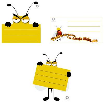 etiquetas para el cole gratis de la abeja mala regalos
