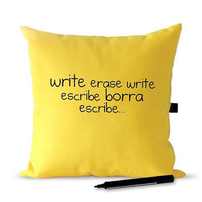 cojin que se puede escribir