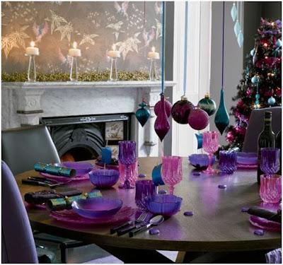 decoracion de navidad con morado o lilia