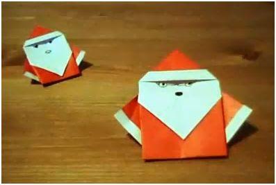 hacer un adorno navideño papa noel de papel