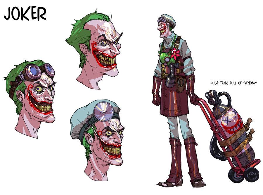 The Daily Zombies Unreleased Batman Arkham Asylum Art