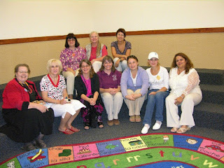 Visitors and staff in the Children's Room