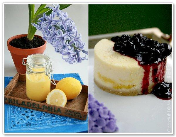 Memories in the Baking: Lemon Curd Marbled Cheesecake