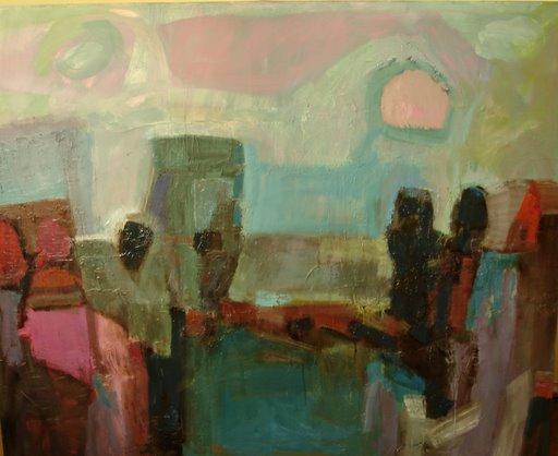 """por alla"" paisaje sur - oleo sobre tela- 120x140 cm"