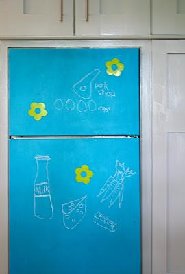 Turquoise fridge