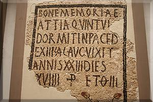 Mosaico funerario