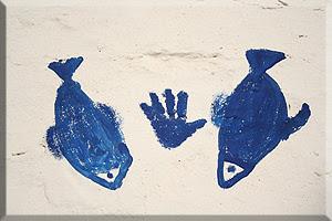 Los peces y la mano de Fátima