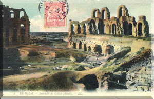 Coliseo de El-Jem a principios del siglo XX