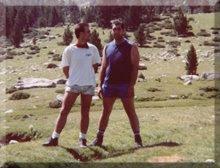 Un alto en el camino al Ref. del Estany de Forcat / Andorra - 1989